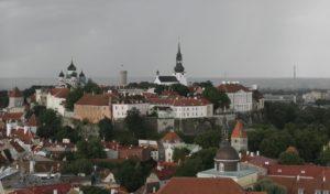 Blick von der Olaikirche auf den Domberg mit guter Zusammenfassung des Wetters.